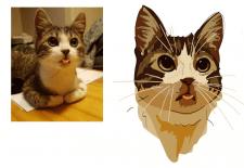 кот в векторе
