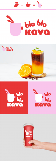 Логотип для кофейни Bla Bla Kava