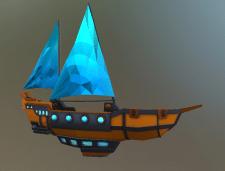 Корабль лоу-поли