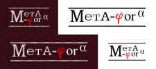 Разработка лого для журнала Мета-фора