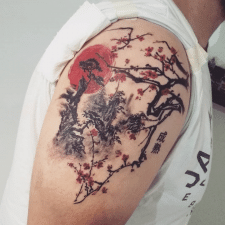 Тату китайські пагорби tattoo Chinese hills