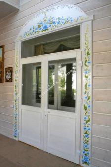 Роспись двери