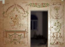 Роспись стен в частном доме, фрагмент