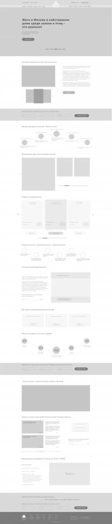 Landing Page для коттеджного поселка