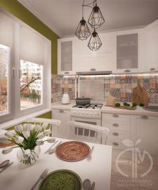 Дизайн кухни в двухкомнатной квартире в Киеве
