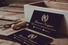 Минималистичная визитка для Kalutskih Furs