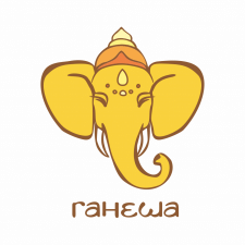GANESHA - логотип для магазина индийских товаров