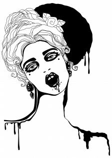 Иллюстрация Девушка