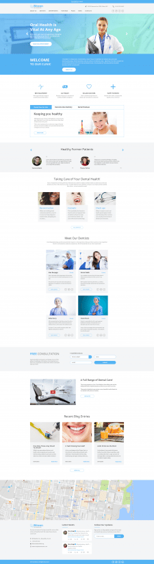 Главная страница сайта стоматологии