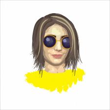 Дівчина в окулярах - векторна графіка