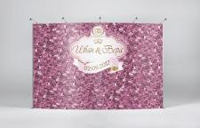 Пресс Волл / Press Wall - свадьба цветы фиолет