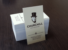 Визитки для ресторана Churchill