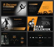 Презентация для агентства спортивного маркетинга.