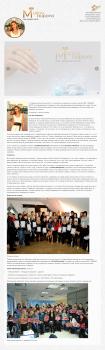 Сайт учебного центра маникюра (курсы) в Минске