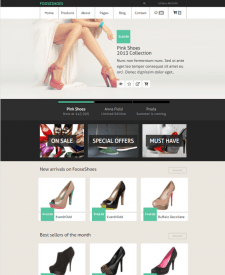 """Web site - """"FooseShoes-Store"""""""