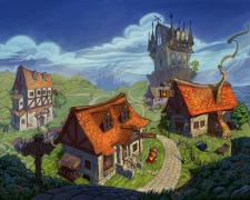 Иллюстрация для браузерной игры. Сказочный город