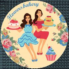 """Логотип для домашньої пекарні """"Flowers.bakery"""""""