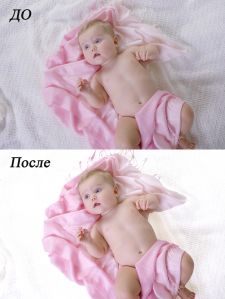 ретушь младенца