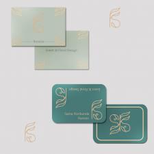 Разработка дизайна лого и визитки для флориста