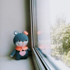 Амигуруми мышка Соня