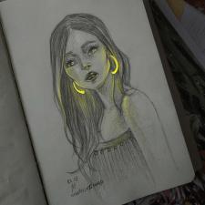 Рисунок со светящимся эффектом