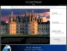 Сайт каталог товаров класа Люкс на СMS WordPress