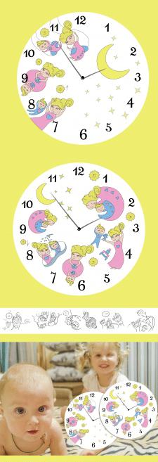Расписание для детей в виде часов