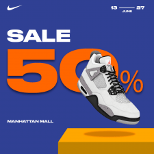 Banner Sale with nike