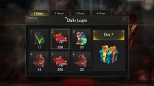 Daily Login sceen UI