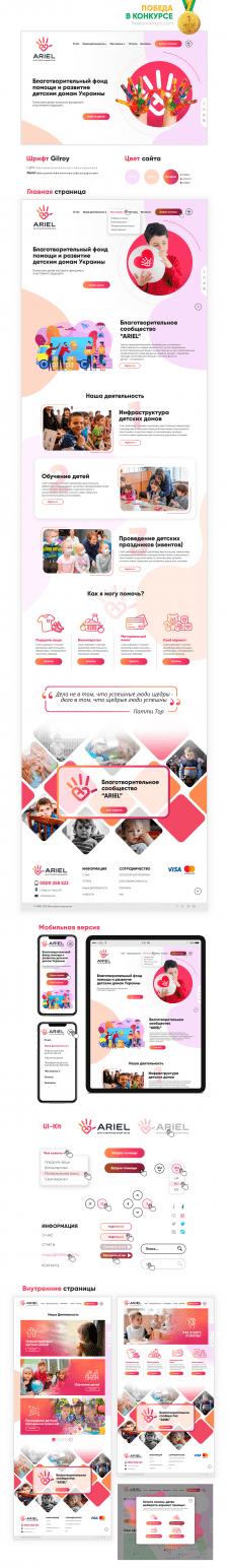 Дизайн сайта Благотворительного фонда ARIEL