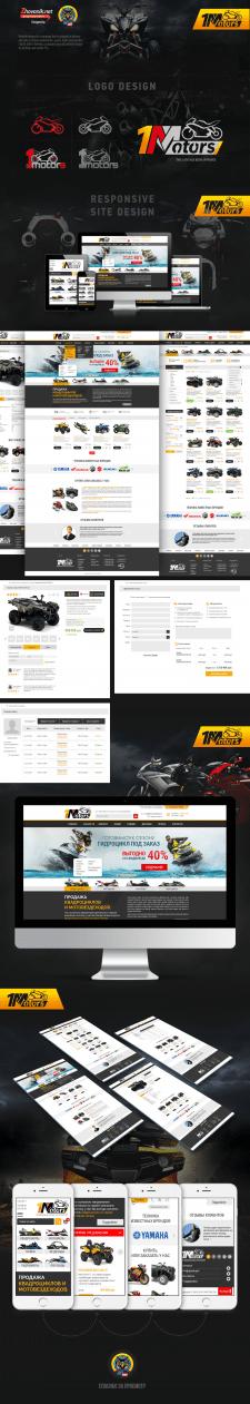 Дизайн интернет-магазина мототехники