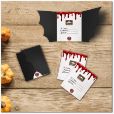 Дизайн открытки Хеллоуин