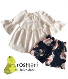 Логотип та білий фон на продукції дитячого одягу