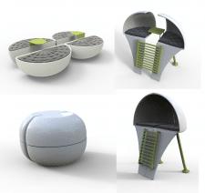 концепт мобильных мест для отдыха