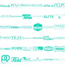 Стилизация логотипов брендов под стиль сайта (100)