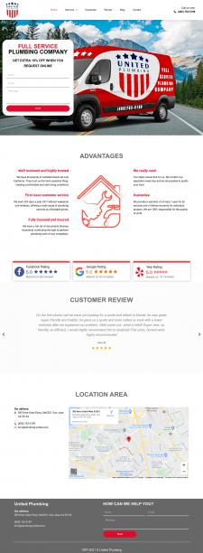 Наполнение сайта сантехнической компании в США