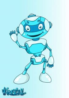 Фирменный персонаж - робот Гоша