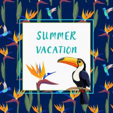 Иллюстрация для открытки тропического отдыха