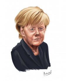 Шарж, карикатура, Ангела Меркель