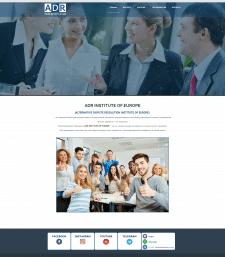 Сайт для европейского образовательного проекта