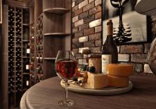 Дизайн винной скрытой винной комнаты
