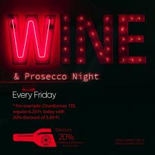 """Пятница - Wine & Prosecco Night"""