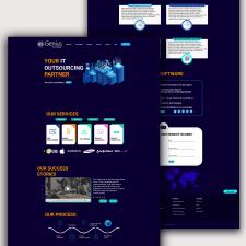 Дизайн сайта для компании Genius Software