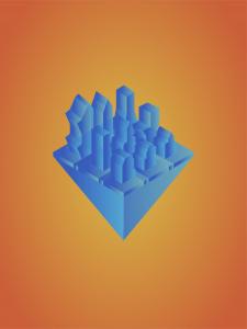 3д город иллюстрация