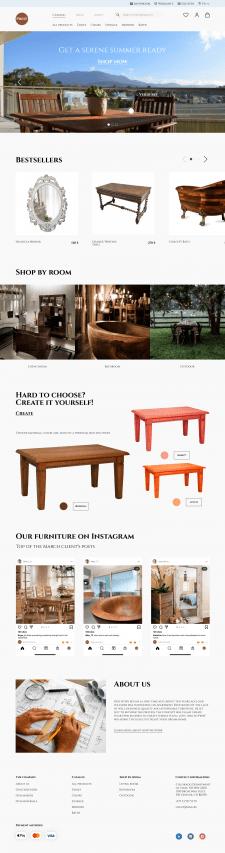 Дизайн интернет-магазина мебели из дерева