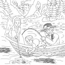 """Розмальовка """"А що ж роблять ангелята навесні"""""""