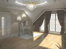 Разработка интерьера зала при спальне