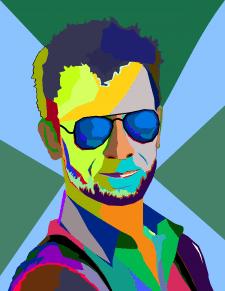 Портрет в стиле WPAP