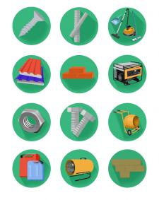 Иконки для компании стройматериалов