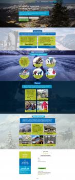 Сайт для тур фирмы в Канаде